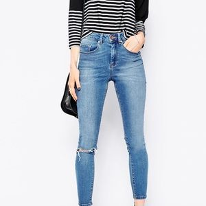 79e395afdaa ASOS · ASOS • ridley high-waisted slim busted knee jeans